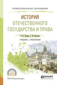 История отечественного государства и права. Учебник и практикум для СПО