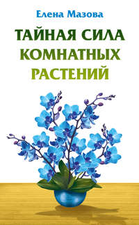 Книга Тайная сила комнатных растений - Автор Елена Мазова