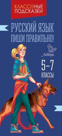 Книга Русский язык. Пиши правильно. 5-9 классы - Автор Ирина Стронская