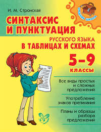 Книга Синтаксис и пунктуация русского языка в таблицах и схемах. 5-9 классы - Автор Ирина Стронская