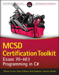 MCSD Certification Toolkit (Exam 70-483). Programming in C#