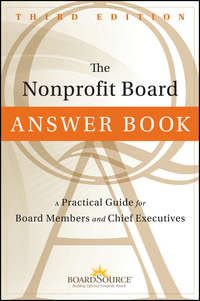 The Nonprofit Board Answer Book. A Practical Guide for Board Members and Chief Executives