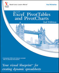 Excel PivotTables and PivotCharts. Your visual blueprint for creating dynamic spreadsheets