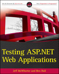 Книга Testing ASP.NET Web Applications - Автор Jeff McWherter