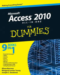 Книга Access 2010 All-in-One For Dummies - Автор Alison Barrows
