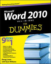 Книга Word 2010 All-in-One For Dummies - Автор Ryan Williams