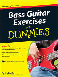 Книга Bass Guitar Exercises For Dummies - Автор Patrick Pfeiffer