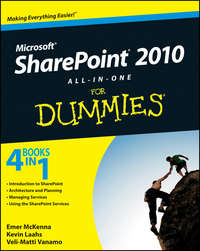 Книга SharePoint 2010 All-in-One For Dummies - Автор Kevin Laahs