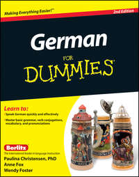 Книга German For Dummies, Enhanced Edition - Автор Wendy Foster