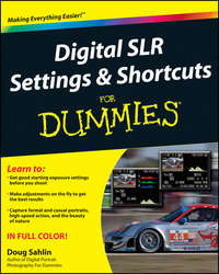 Книга Digital SLR Settings and Shortcuts For Dummies - Автор Doug Sahlin