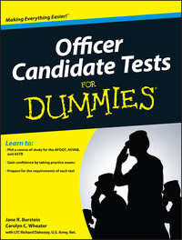 Книга Officer Candidate Tests For Dummies - Автор Jane Burstein
