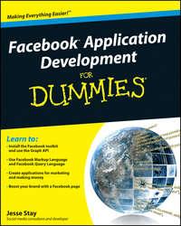 Книга Facebook Application Development For Dummies - Автор Jesse Stay