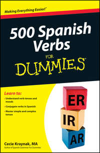 Книга 500 Spanish Verbs For Dummies - Автор Cecie Kraynak
