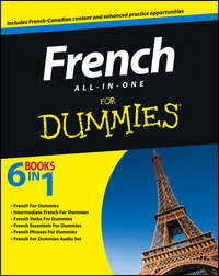 Книга French All-in-One For Dummies - Автор Consumer Dummies