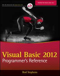 Книга Visual Basic 2012 Programmer's Reference - Автор Rod Stephens