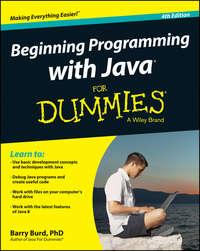 Книга Beginning Programming with Java For Dummies - Автор Barry Burd