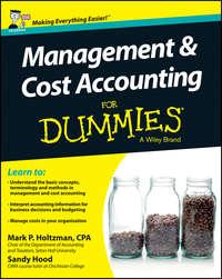 Книга Management and Cost Accounting For Dummies - UK - Автор Sandy Hood