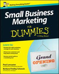 Книга Small Business Marketing For Dummies - Автор Paul Lancaster