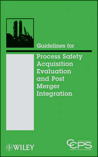 Книга Guidelines for Process Safety Acquisition Evaluation and Post Merger Integration - Автор CCPS (Center for Chemical Process Safety)