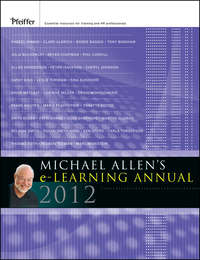 Книга Michael Allen's 2012 e-Learning Annual - Автор Michael Allen