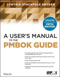 Книга A User's Manual to the PMBOK Guide - Автор Cynthia Stackpole