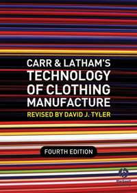 Книга Carr and Latham's Technology of Clothing Manufacture - Автор David Tyler