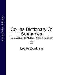 Купить книгу Collins Dictionary Of Surnames: From Abbey to Mutton, Nabbs to Zouch, автора Leslie  Dunkling