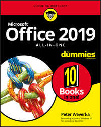 Купить книгу Office 2019 All-in-One For Dummies, автора Peter  Weverka